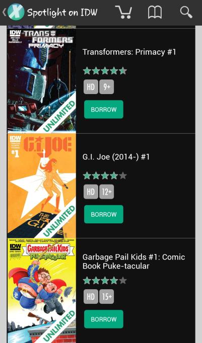 Comixology - App Browsing 1