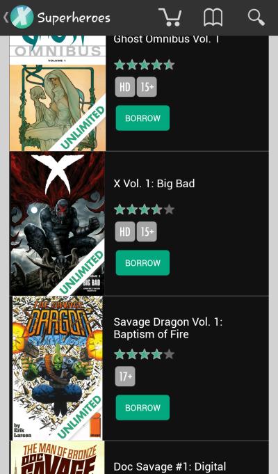 Comixology - App Browsing 2